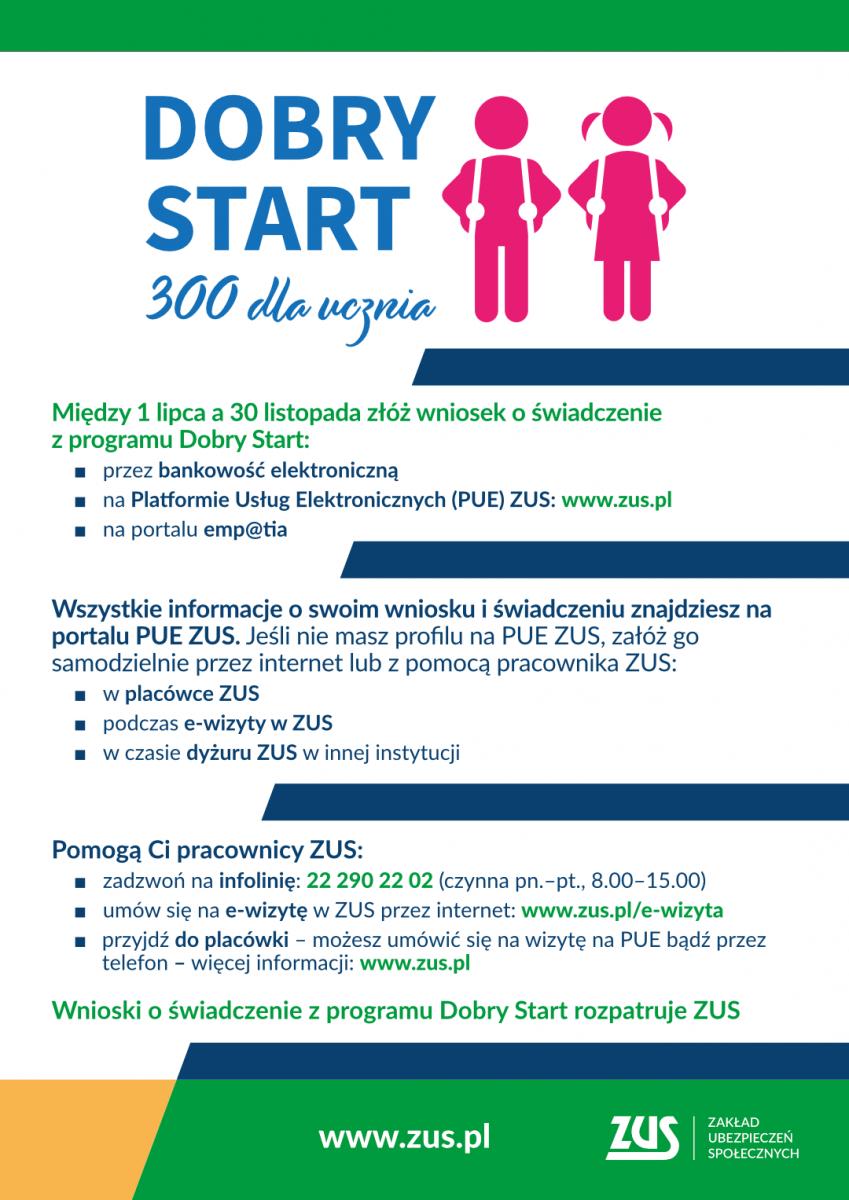 plakat Dobry Start 3 ogólne info